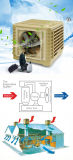 Воздушный охладитель верхнего качества пластичной установленный крышей испарительный промышленный