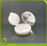 Case with Mirror Finish Embalagem em pó cosmético branco