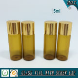 5mlこはく色の精油のガラスビン5mlガラスのガラスびん