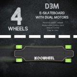 二重ハブが付いているKoowheel電気Longboardのスケートボードは自動車に乗る(D3M)