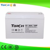 Батарея геля прямой связи с розничной торговлей 12V 80ah фабрики
