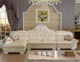 Königliches Art-Leder-Sofa, neues klassisches Hauptmöbel-Sofa (6019)