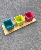 BPA libèrent la cuvette colorée de vaisselle de cuisine de fibre en bambou d'Eco réglée (YK-B20051)