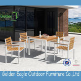 Hot Selling Outdoor Aluminium Frame Polywood Furniture Dining Set