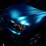 1.52m*20m selbstklebendes MessingSilve wasserdichtes Luftblase freies Belüftung-Vinyl, das MattChome Auto-Aufkleber einwickelt