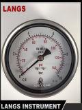 Aço inoxidável Wika Type&#160 de 075 Langs; conexão traseira de 100mm