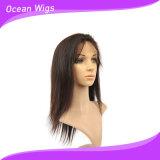 Quercy 2017 barato y de la alta calidad peluca sintetizada recta del frente del cordón del pelo de largo (FW-63B)