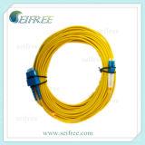 Cordon de connexion duplex de fibre optique LC à Sc (UPC/APC)