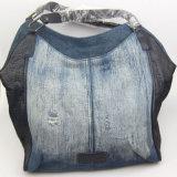 女性はジーンズの綿のハンドバッグの偶然の方法ハンドバッグのファッション小物の製造者を洗浄した