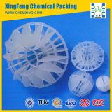 Media de filtro huecos polihédricos plásticos de goteo de la bola