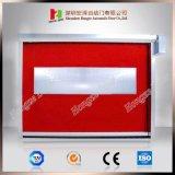Portello interno veloce rosso del PVC con il formato di 6*6m massimi