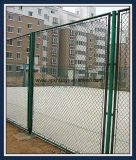 PVC上塗を施してあるワイヤーチェーン・リンクの塀