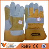 Кожи заварки безопасности работы Cowhide перчатки Split промышленные