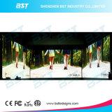 L'arco interno locativo LED dello schermo impermeabile della priorità bassa di fase di P6.25 500X1000mm e fuori si arca 10 gradi