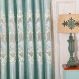 Cortinas de lujo modificadas para requisitos particulares del apartamento del poliester de la venta al por mayor de la talla con reunido