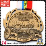 大きい形の習慣によって浮彫りにされるロゴのスポーツメダル