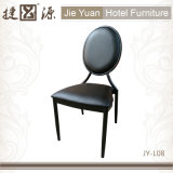 Cadeira de empilhamento de alumínio preta do restaurante do café (JY-L08)