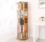 Module en bambou rotatoire détachable de livre de bibliothèque de Bookrack d'étagère