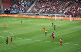 大きい競技場のLED表示スクリーンを広告する境界のフットボールLED