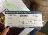 Billet d'avion de Jps-320zd, billet de vol, machine se pliante de billet d'avion avec percer la fonction