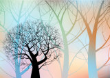 最上質のより安い価格ホーム装飾の油絵のための新しいデザイン木の景色様式