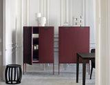 標準的な居間の家具のキャビネットの小さい木の引出しのキャビネット