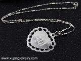 Collar pendiente de la última del corazón de 32655 maneras joyería del diseño en color del rodio
