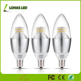 Bombilla E12 E14 E27 3W 5W 6W LED Candelabro Vela con el CE RoHS UL