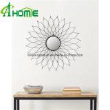 安く熱い販売の鉄のホーム装飾のための円形のFramdeの壁ミラー