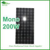 mono painel 200W solar para o sistema Home do uso e de bombeamento da água