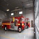 De Bouw van de Brandweerkazerne van de Structuur van het metaal met Rol op Deur