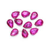 De briljante Buitensporige Daling naait op Bergkristallen voor Kleding (sW-Drop/18X25mm)