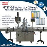 Automatische doppelte Köpfe, die Paprika-Soße-Füllmaschine (GT2T-2G1000, abfüllen)