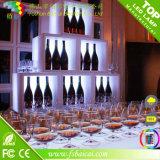 Basamento caldo di Dispay della mensola del vino della mobilia LED della barra di vendita