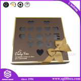 Contenitore impaccante di carta su ordinazione di cioccolato con la finestra di plastica
