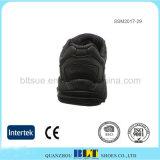 Lederne obere entfernbare Einlegesohlen-schwarze Mann-Schuhe