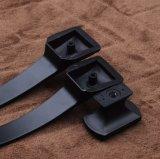 亜鉛合金の納屋の大戸のハードウェアのドアハンドルの黒の家具のハンドル