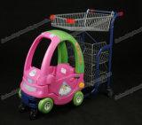 Carrello conveniente di acquisto della vendita al dettaglio del supermercato dei bambini del bambino