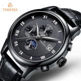 Luxuxmens-automatische Sport-Uhr-Saphir-Schwarz-Edelstahl-Uhr 72238