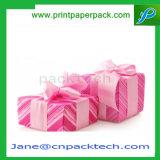 Kundenspezifisches Farbband-Papier-Geschenk-verpackenschokoladen-Kasten