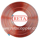 R410 un tubo del cobre de la crepe de la refrigeración