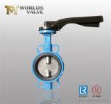 Vanne papillon en aluminium de disque de levier avec les certificats d'OIN Wras de la CE (WD7A1X-10/16)