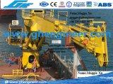 de 6t35m do ferryboat guindaste telescópico hidráulico da plataforma no mar