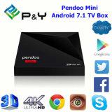 2017 neuester Android 7.1 Fernsehapparat-Kasten Kodi Media Player Pendoo A5X OS-Ott plus MiniRk3328 1GB 8GB/16GB intelligenten gesetzten Spitzenkasten