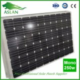 Panneau solaire 250W monocristallin de prix usine avec les piles solaires