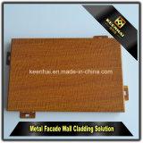 El panel de aluminio del grano de madera de imitación decorativo con el mezclador a prueba de humedad