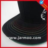 カスタム紫色6のパネルの刺繍の急な回復の帽子