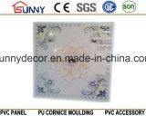панель PVC 595*595*7mm горячая штемпелюя для украшения плиток стены и потолка