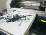 6 Machine van de Druk van de T-shirt van kleuren Flatbed Digitale/Printer