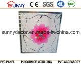 595*595*7mm壁および天井のタイルの装飾のための熱い押すPVCパネル
